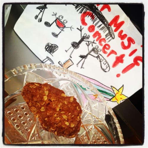 One lonely Anzac biscuit left after our Piano Party!