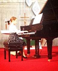 Student performance at the Spring Recital.