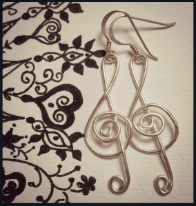 Giveaway Treble Clef Earrings