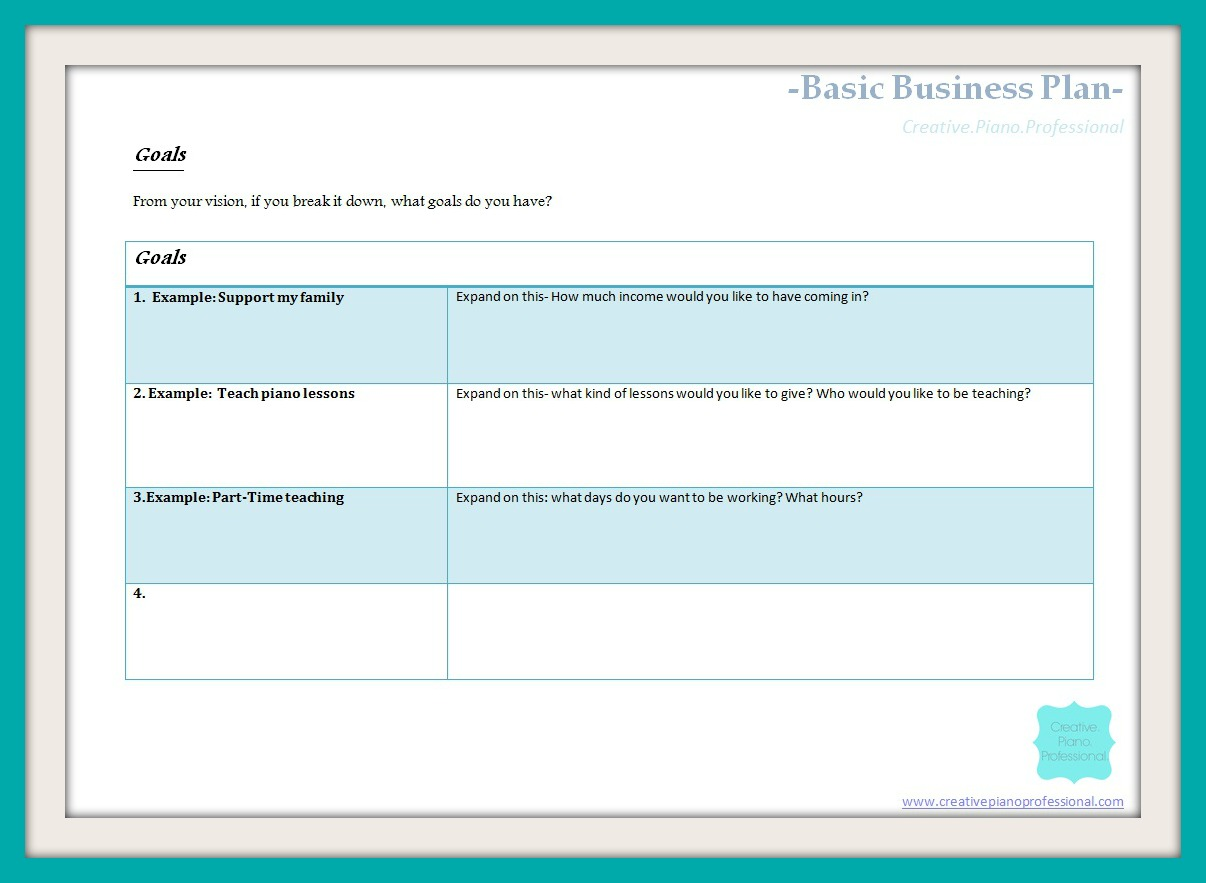 Simple business plans template