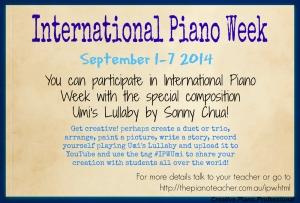 Free Downloadable International Piano Week Studio Poster