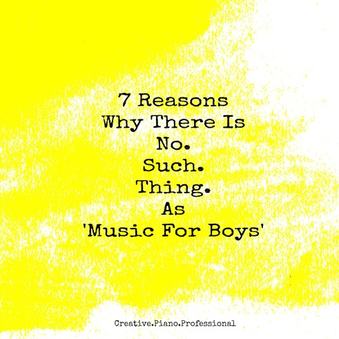 7 Reasons Why There is No Such Thing as BOYS music